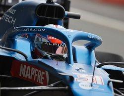 Esteban Ocon, encantado con las primeras sensaciones al volante del A521 en Silverstone