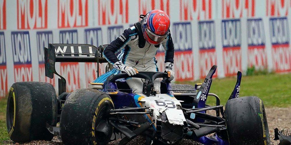 George Russell y Valtteri Bottas no se ponen de acuerdo con lo sucedido en el accidente de Imola