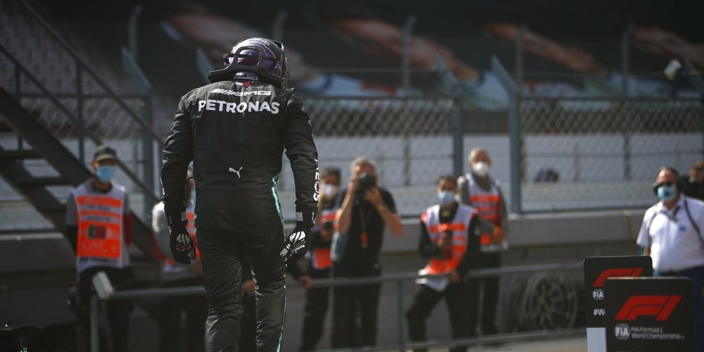Lewis Hamilton tira de garra en el momento justo y se lleva la victoria en Portugal
