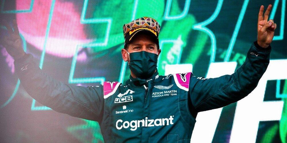 """Sebastian Vettel: """"Estoy en la luna; es un resultado realmente especial"""""""