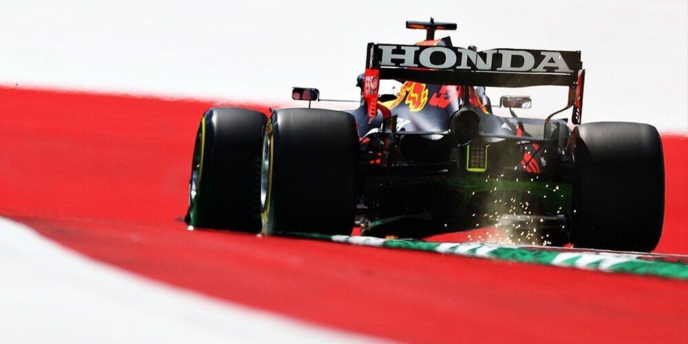 Max Verstappen dispara primero en los Libres 1 del GP de Estiria con los Mercedes al acecho