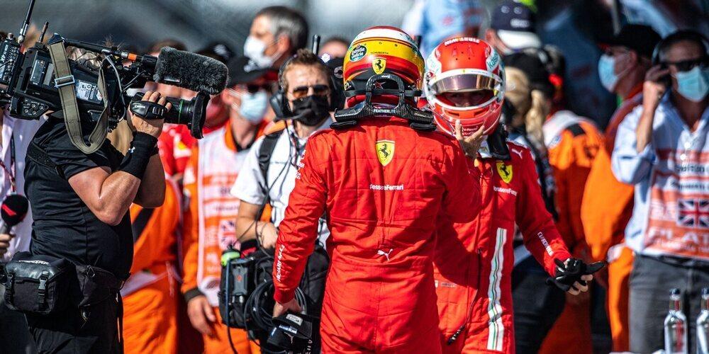 """John Elkann alaba a Sainz y Leclerc: """"Estoy muy satisfecho con ellos"""""""
