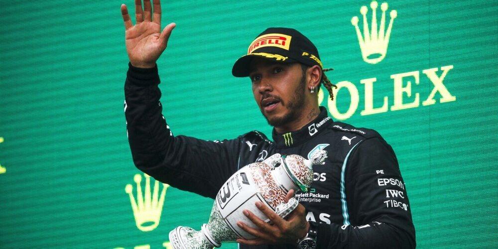"""Mike Elliott, del estado de Hamilton en el podio: """"No fue sorprendente que Lewis estuviera cansado"""""""
