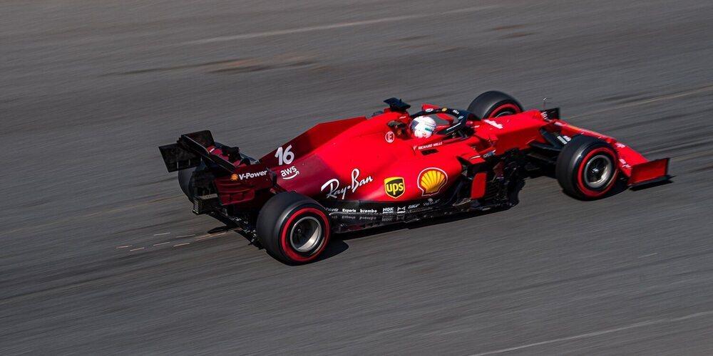 Los Ferrari y Esteban Ocon sorprenden a los favoritos en unos Libres 2 con doble bandera roja