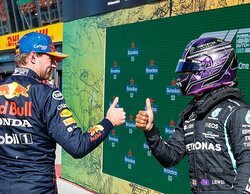 """Hamilton: """"Ha estado ajustado, lo he dado absolutamente todo, pero Max hizo un trabajo fantástico"""""""
