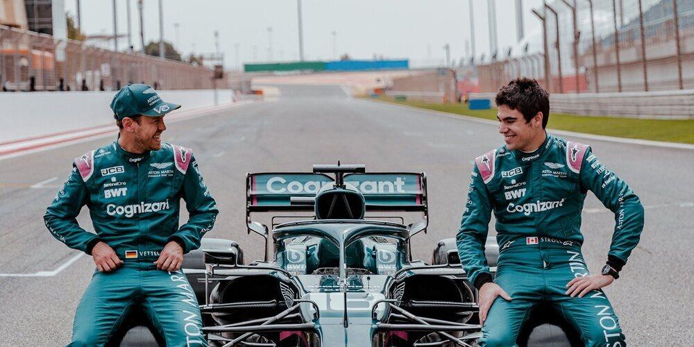 OFICIAL: Aston Martin confía en su actual pareja de pilotos, compuesta por Vettel y Stroll, para 2022