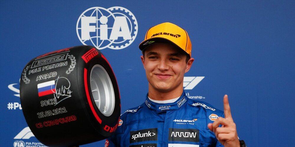 Sochi nos regala una sesión de clasificación impresionante con pole de Norris, Sainz 2º y Russell 3º