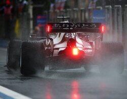 Pierre Gasly, el más rápido en la última sesión de Libres en condiciones de mojado