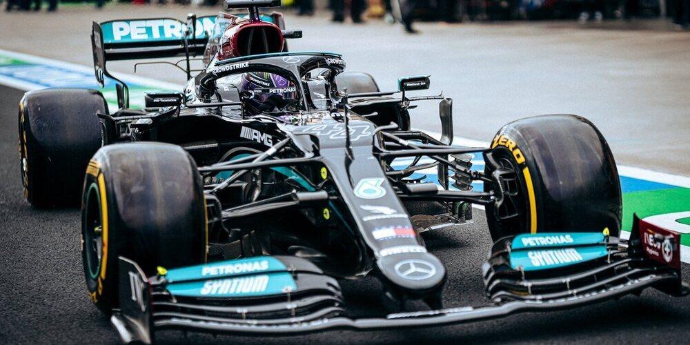 Lewis Hamilton se hace con el mejor tiempo en la Qualy, si bien Bottas arrancará 1º en carrera