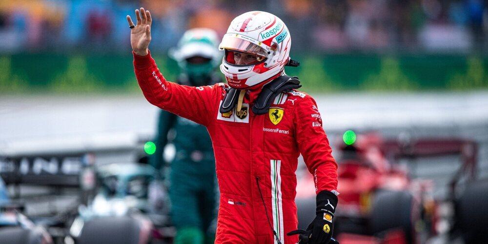 """Charles Leclerc: """"Fue genial ver a Carlos estar ahí y darme el rebufo en la recta final de la Q2"""""""