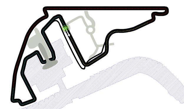 Trazado de Yas Marina Circuit