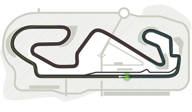 Trazado de Circuit de Catalunya