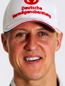 Retrato de Michael Schumacher