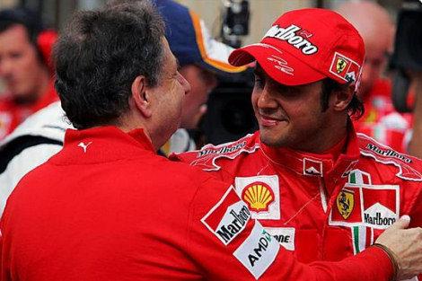 """Massa: """"Es muy bueno estar aquí otra vez dándole una pole a Ferrari"""""""