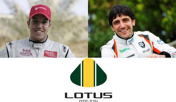 Arabadzhiev y González en el test de jóvenes pilotos con Lotus