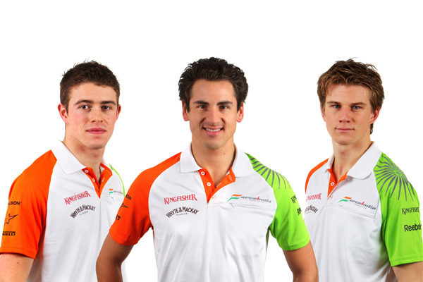 Adrian Sutil y Paul di Resta, pilotos oficiales de Force India