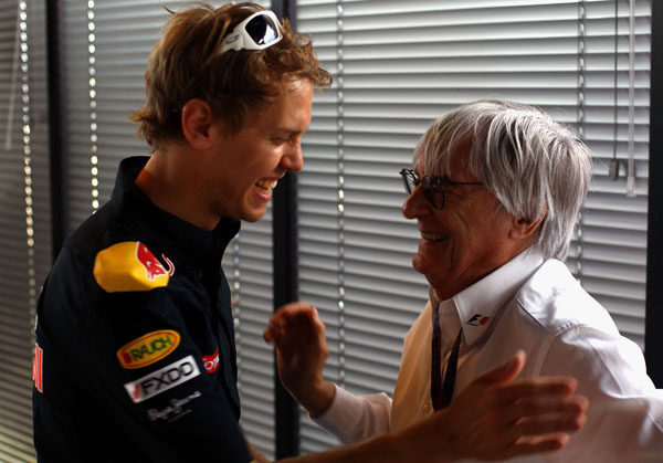 Ecclestone estaría encantado de convertirse en suegro de Vettel