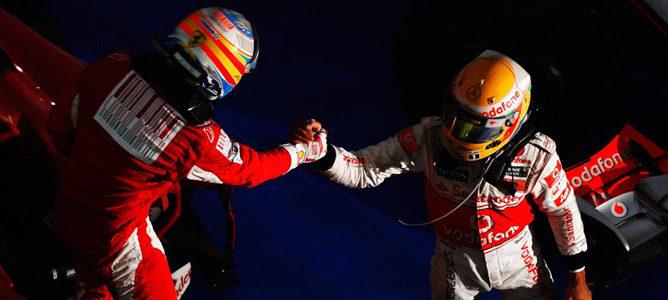 """Hamilton: """"Mi rival más cercano es Alonso, le veo como mi Prost"""""""