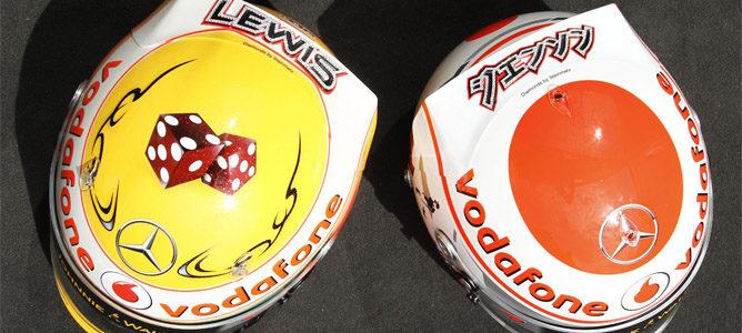 Hamilton y Button correrán con cascos de diamantes en Mónaco 001_small
