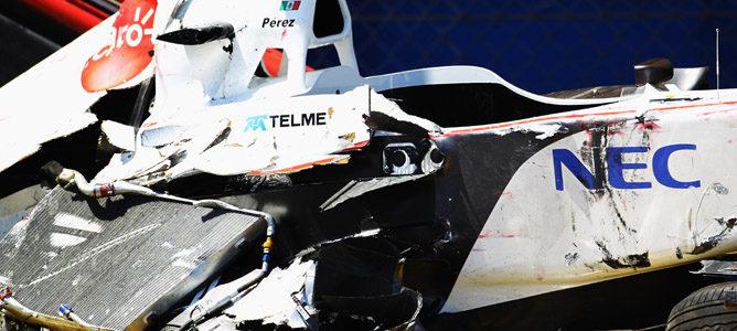 Sergio Pérez sufre un fuerte accidente en la clasificación del GP de Mónaco 001_small