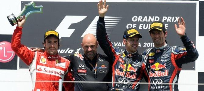 Vettel gana el Gran Premio de Europa 2011 y Alonso termina en segunda posición