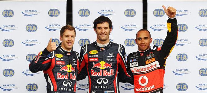 Mark Webber se lleva la pole por delante de Lewis Hamilton en el GP de Alemania