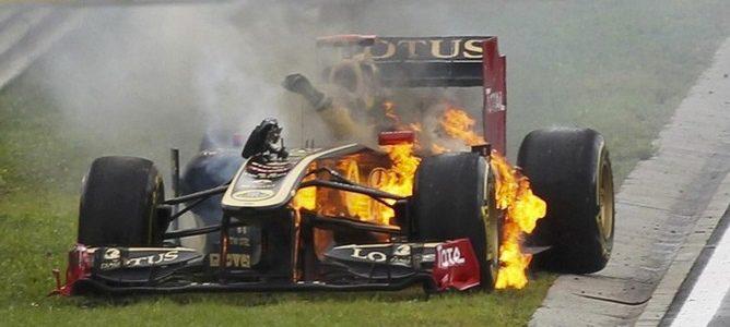Lotus Renault GP se ve obligada a desechar el chasis de Nick Heidfeld