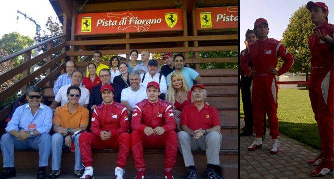 Sergio Pérez completa su test con Ferrari