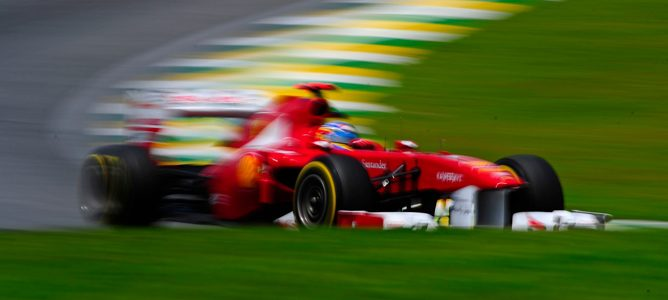 Fernando Alonso en el GP de Brasil 2011