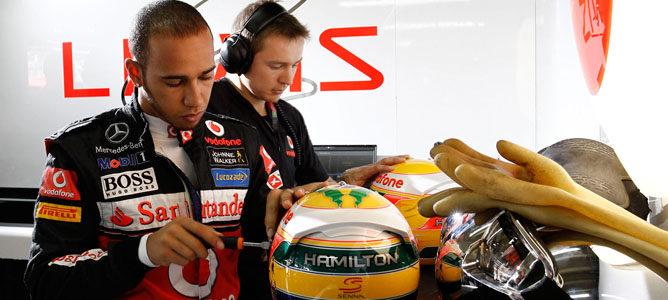 Lewis Hamilton en el GP de Brasil 2011