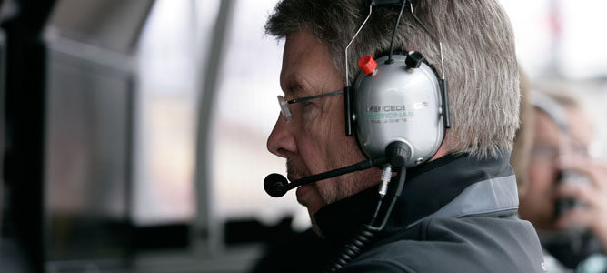 Ross Brawn, jefe de equipo de Mercedes GP