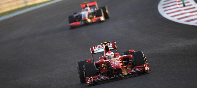 Kimi Räikkönen en Abu Dabi 2009