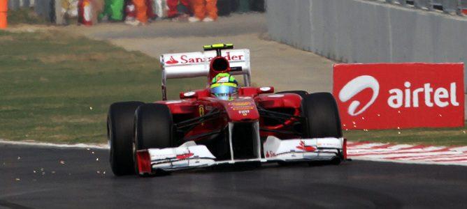 El alerón delantero del Ferrari de Massa