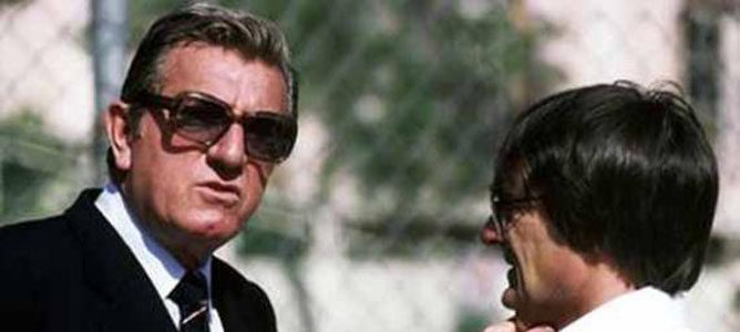 Jean Marie Balestre, presidente de la FIA, y Bernie Ecclestone, dueño de Brabham