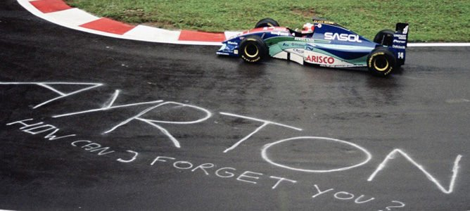 Barrichello pole Bélgica 1994 Ayrton Senna