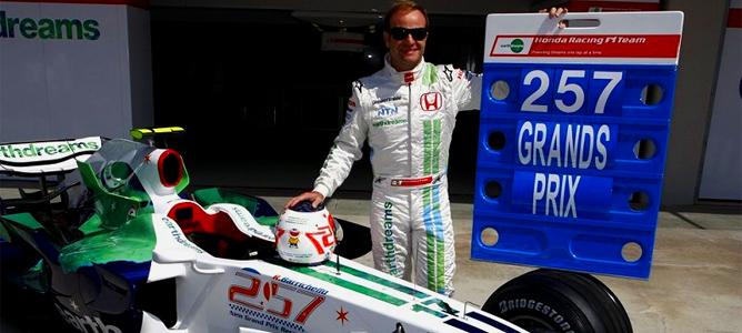 Barrichello supera a Patrese al disputar su GP 257