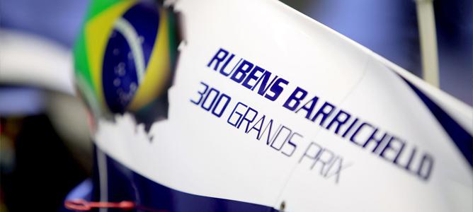 Decoración del Williams en el GP número 300 de Barrichello