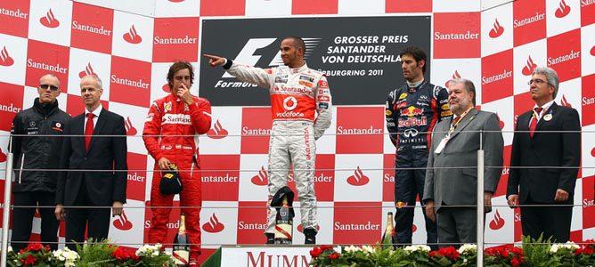 El podio del GP de Alemania en 2011
