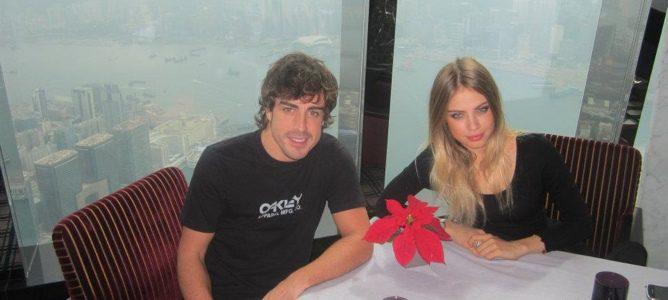 Fernando Alonso y Xenia Tchoumitcheva
