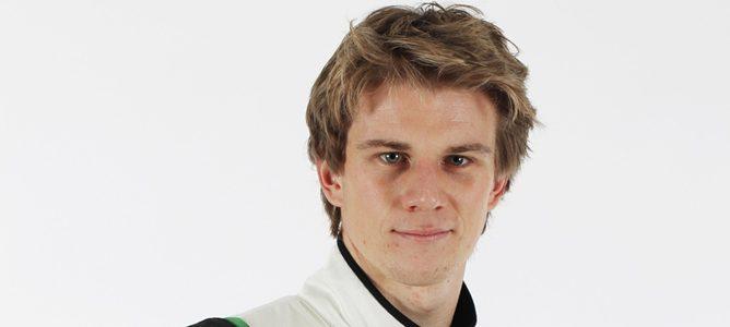 Nico Hülkenberg en la presentación del VJM05 2012 en Silverstone
