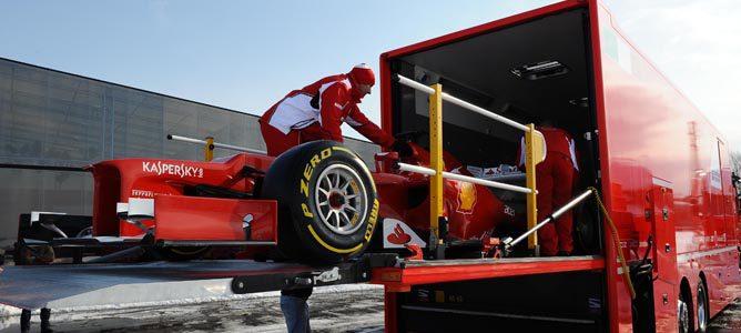 El F2012 partiendo hacia Jerez