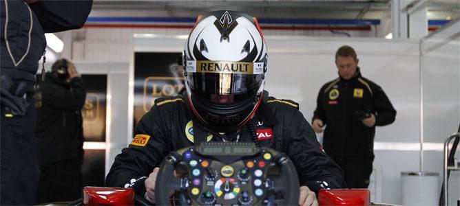 Kimi en su primer test con Lotus