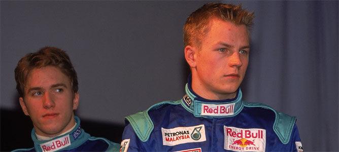 Kimi y Heidfeld en su temporada en Sauber