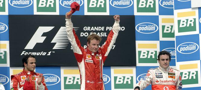 Podio del GP de Brasil 2007