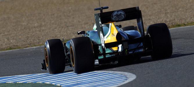 Kovalainen con Caterham en Jerez