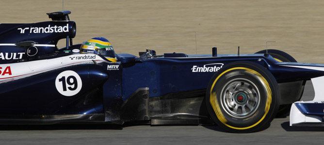 Bruno Senna con el Williams FW34 en Jerez