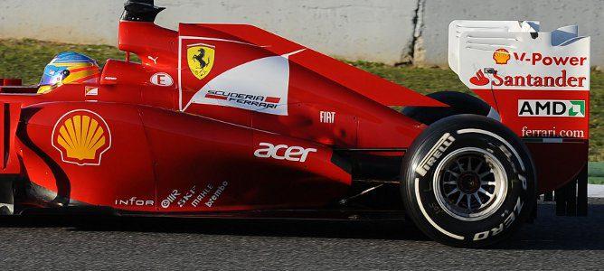 El F2012 en Jerez y sus salidas de escape