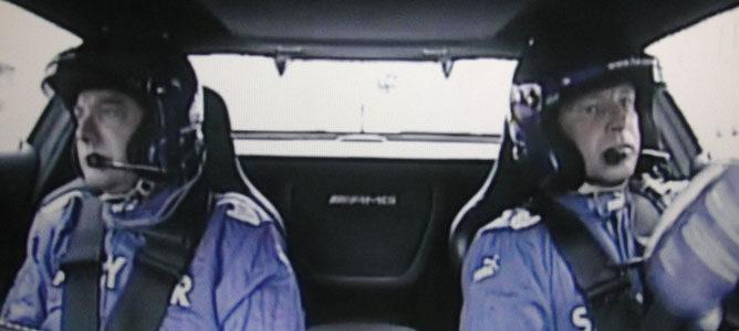 Maylander y su copiloto en acción