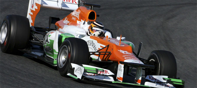 Nico rueda con el Force India