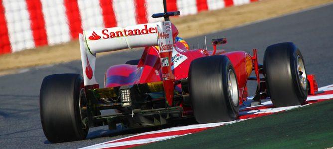 Ferrari de Fernando Alonso en Barcelona